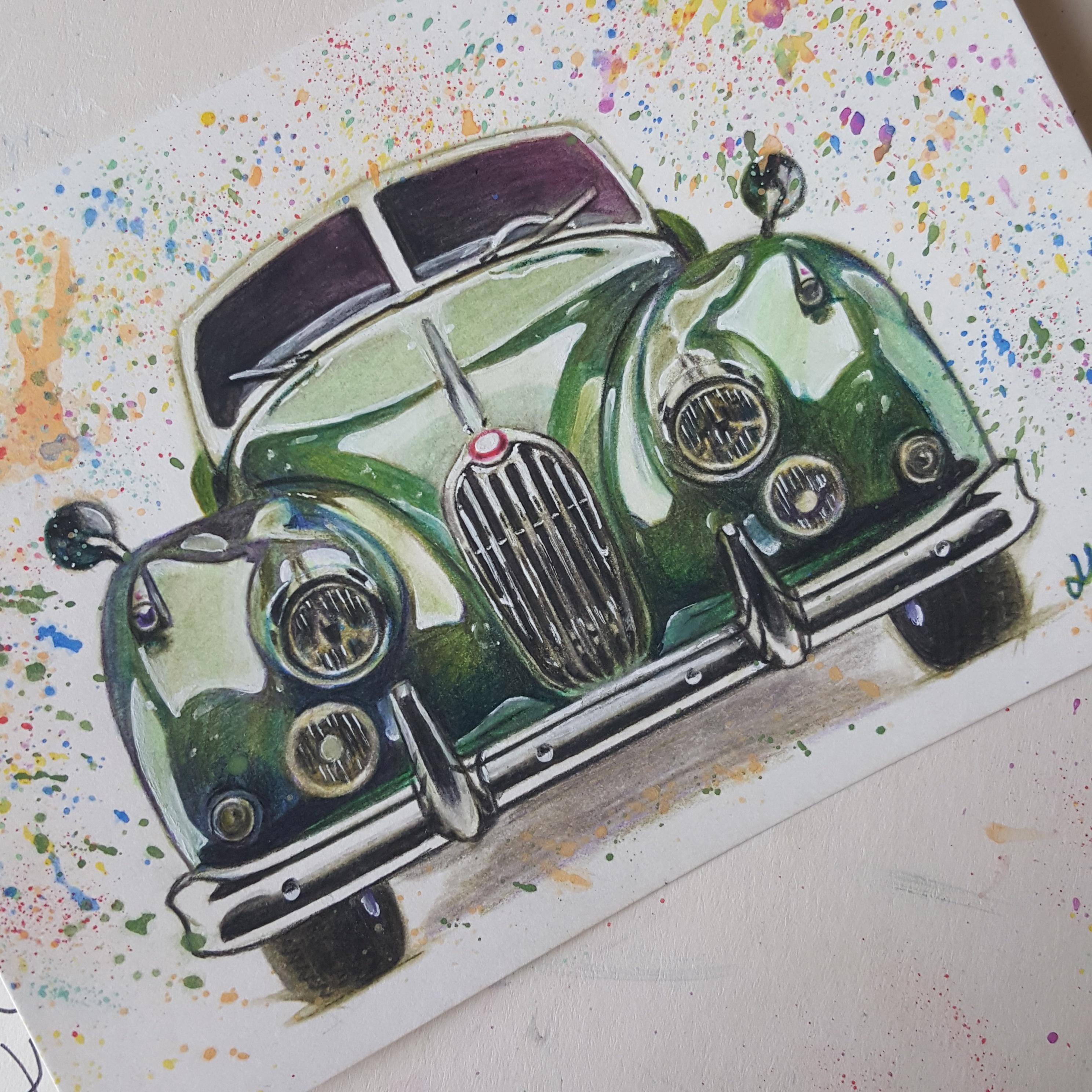 彩铅手绘汽车