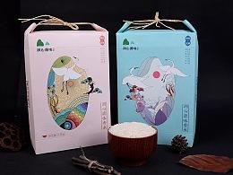 洞心原味香米品牌形象包装设计