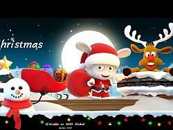 圣诞节的圣诞米兔来给大家送礼物