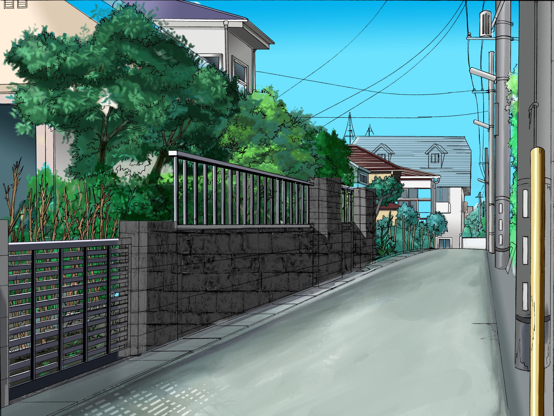 日本场景插画 房屋