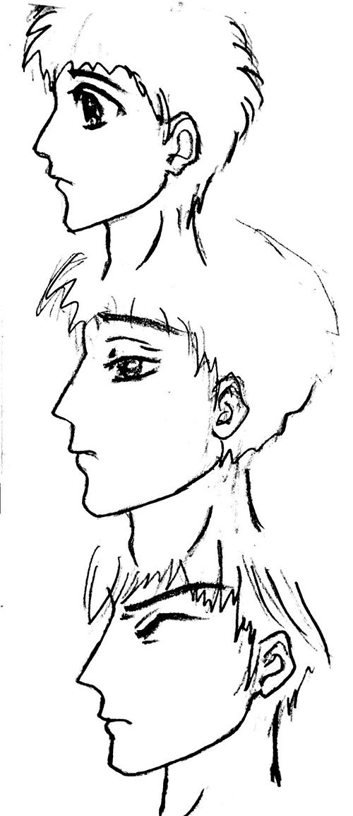 手绘——卡通人物(男)|绘画习作|插画|15vivian