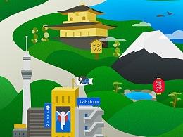 城市插画-日本/澳大利亚