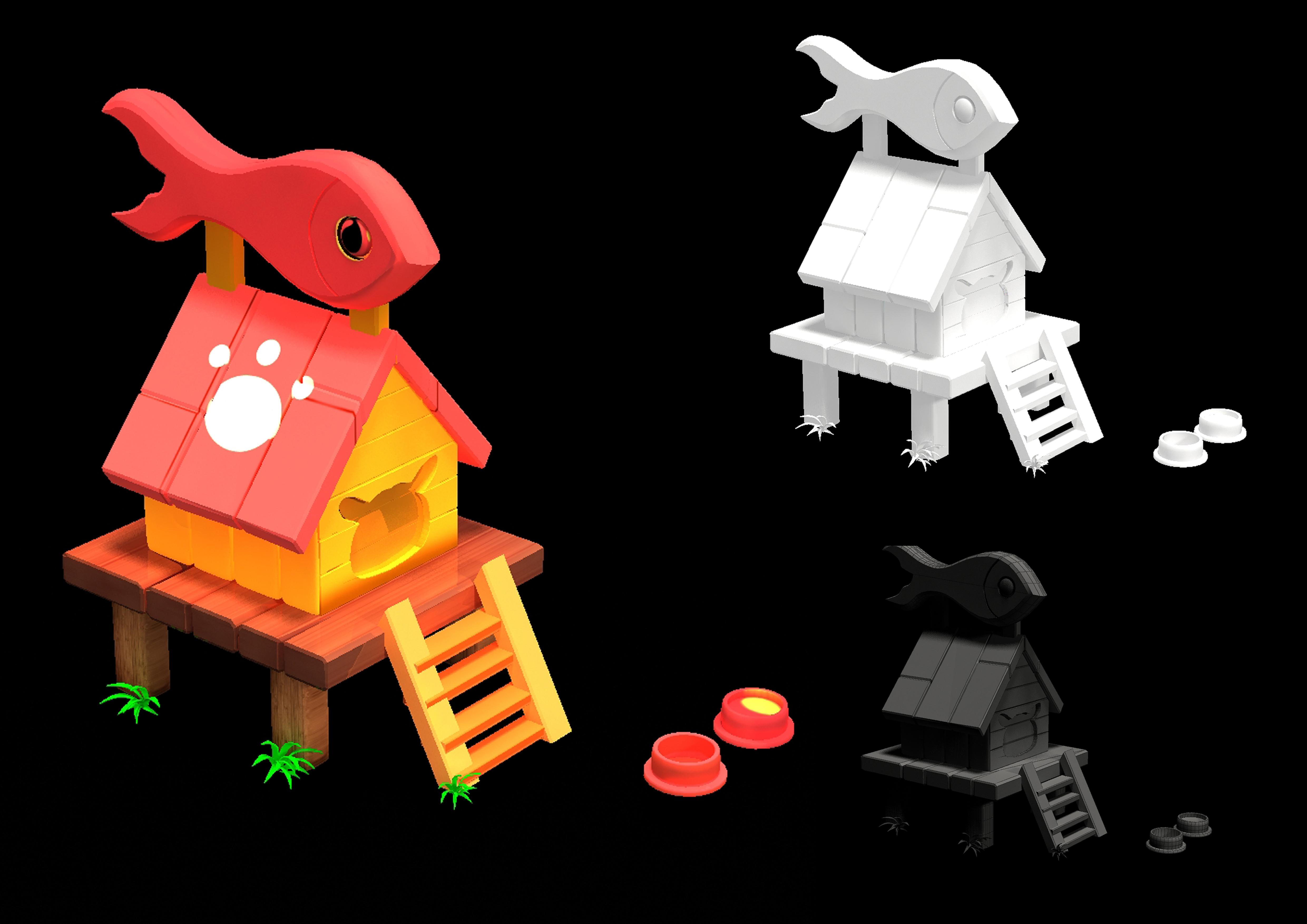 手绘建筑|插画|游戏原画|风会记得花的香 - 原创作品
