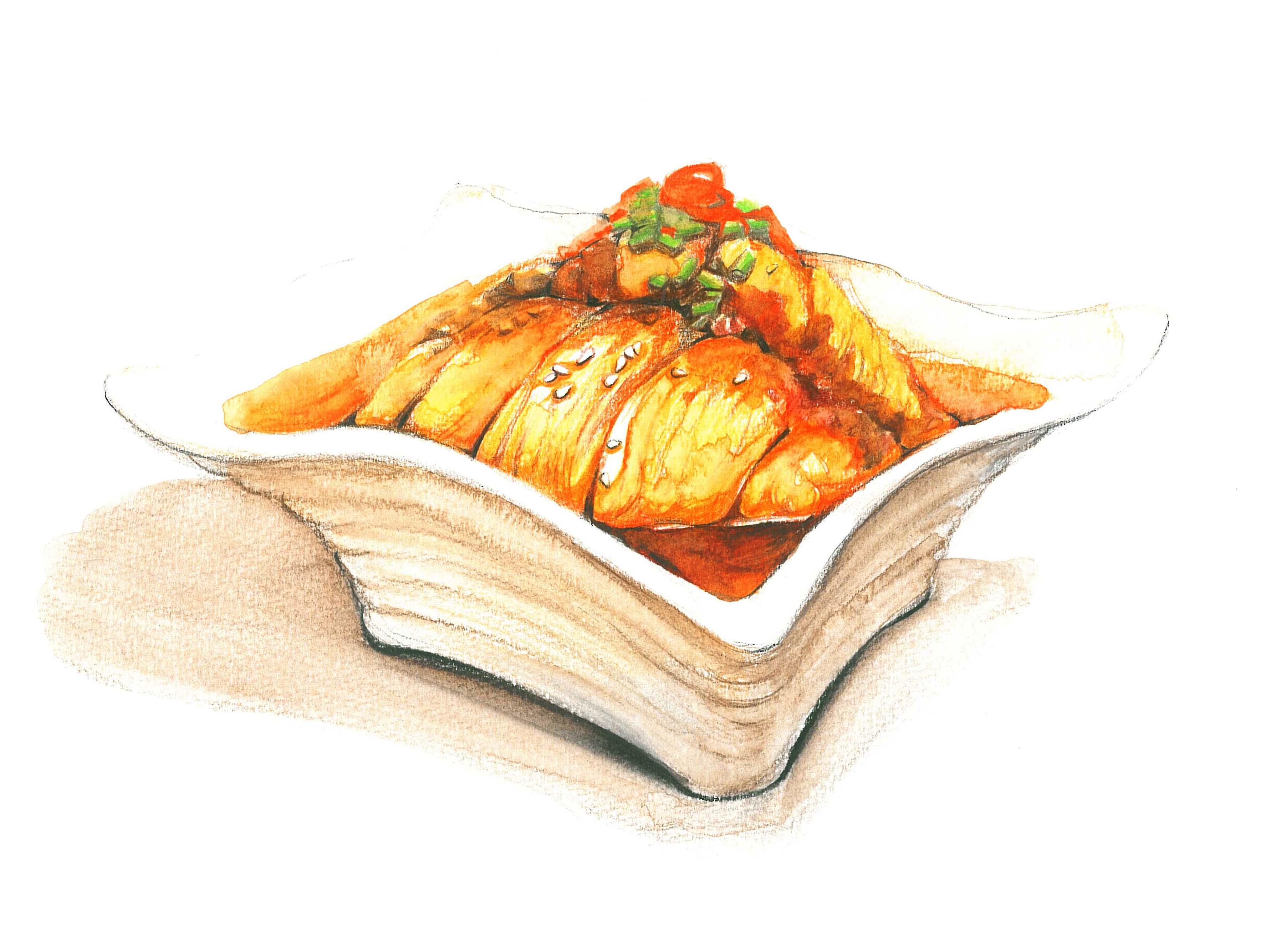 最近的彩铅手绘美食(定期更新哦)