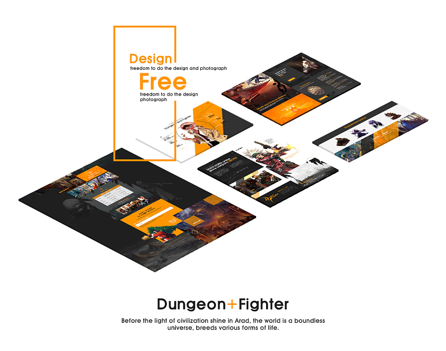 查看《DNF游戏页面设计练习》原图,原图尺寸:1200x945