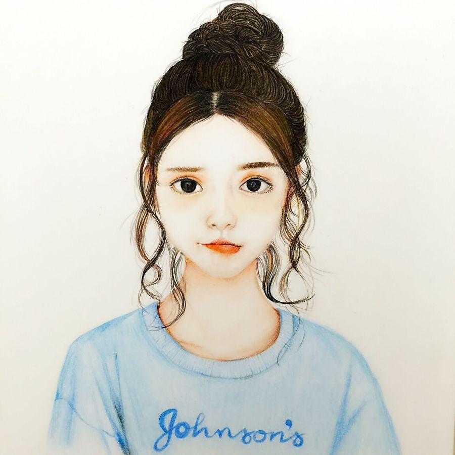 纯手绘女孩|彩铅|纯艺术|偏执狂鸡 - 原创设计作品