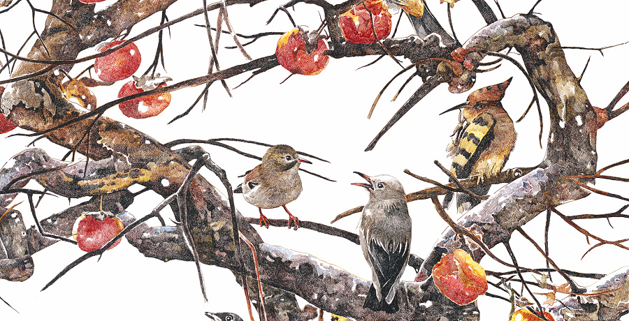 本系列的主题是森林,描述在森林里,各种小动物舒适地栖息在树枝上,睡