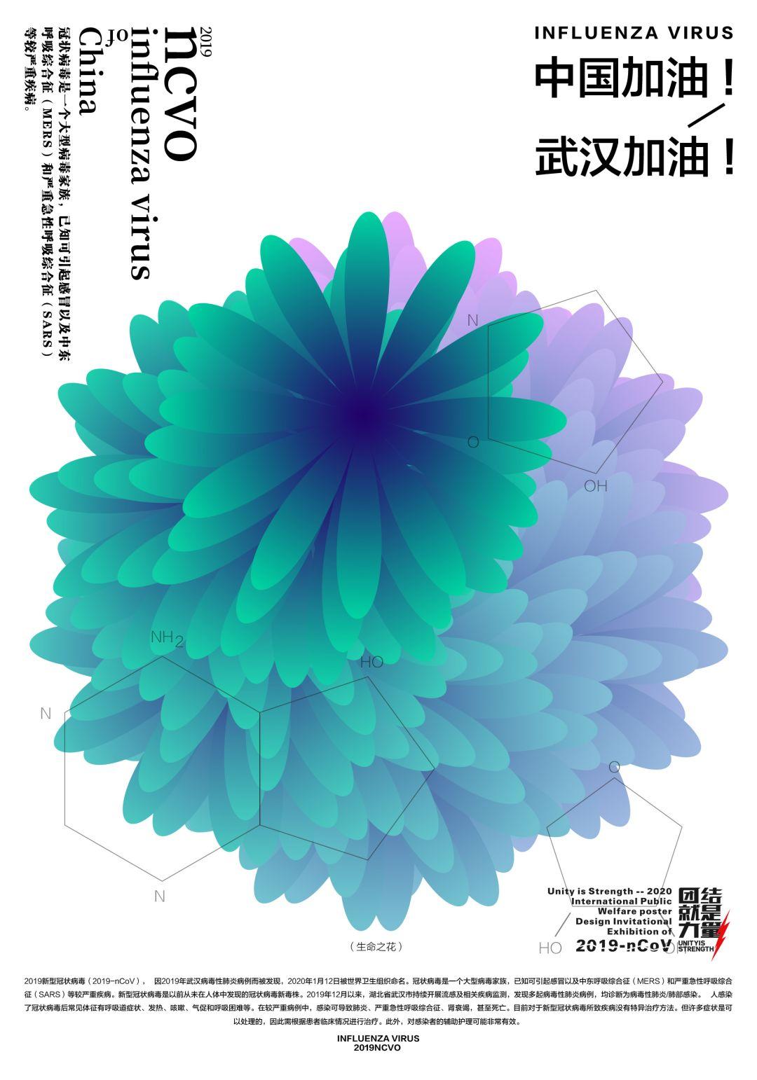 """团结就是力量——2020抗击""""新型冠状病毒""""国际公益海报设计邀请展纪实合集一插图(10)"""