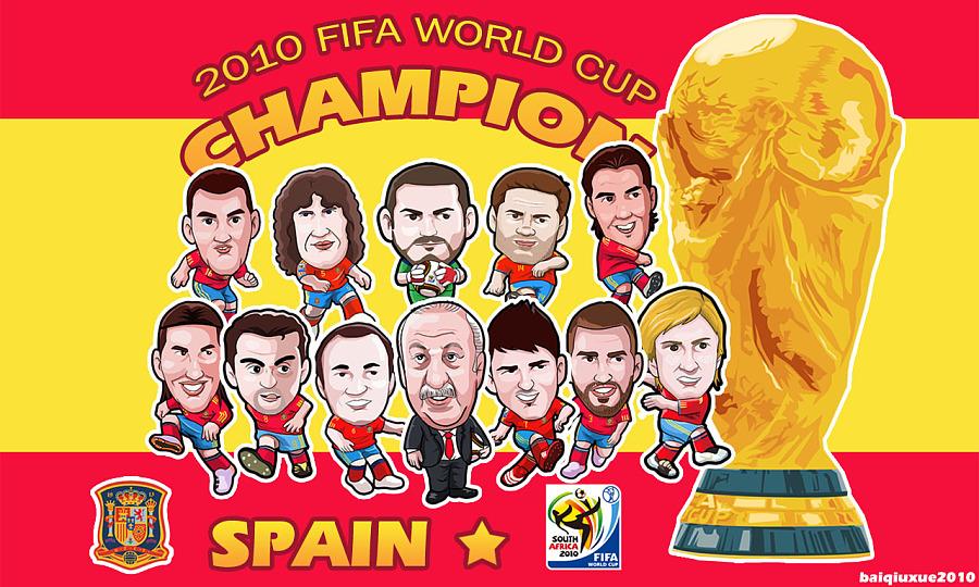2010南非世界杯漫画西班牙v漫画十一人冠军壁窝囊废51漫画图片