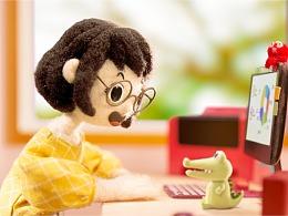 蒙牛羊毛毡动画《活在饿次元》:奶凶小鳄鱼带你抗饿!