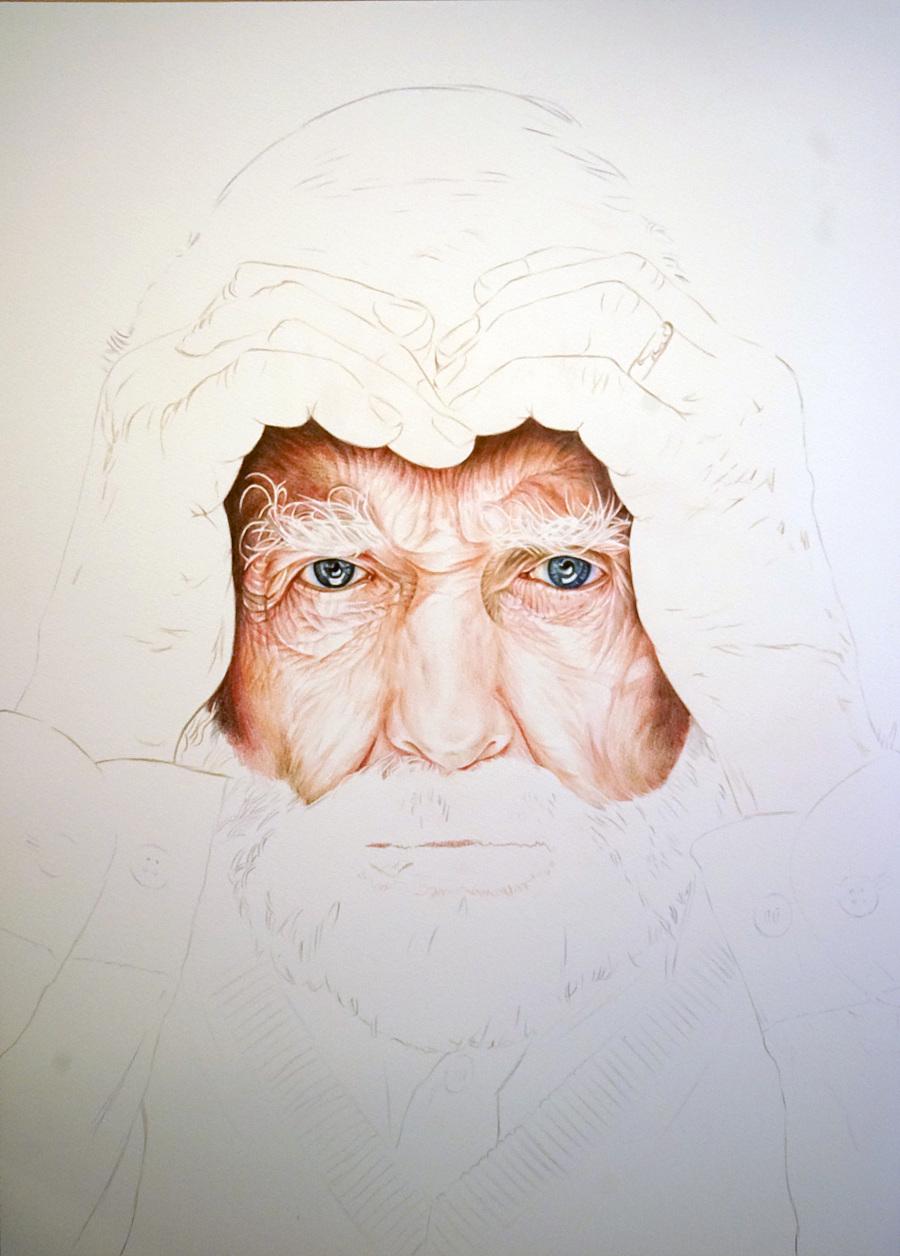 外国老人|彩铅|纯艺术|凡彩手绘 - 原创设计作品