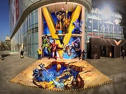 与王者荣耀合作创作巨幅3d画《决战未来》万氏兄弟出品
