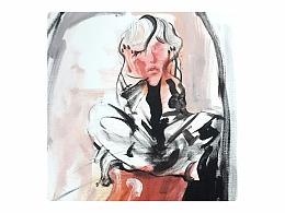 王孟华油画《自画像》