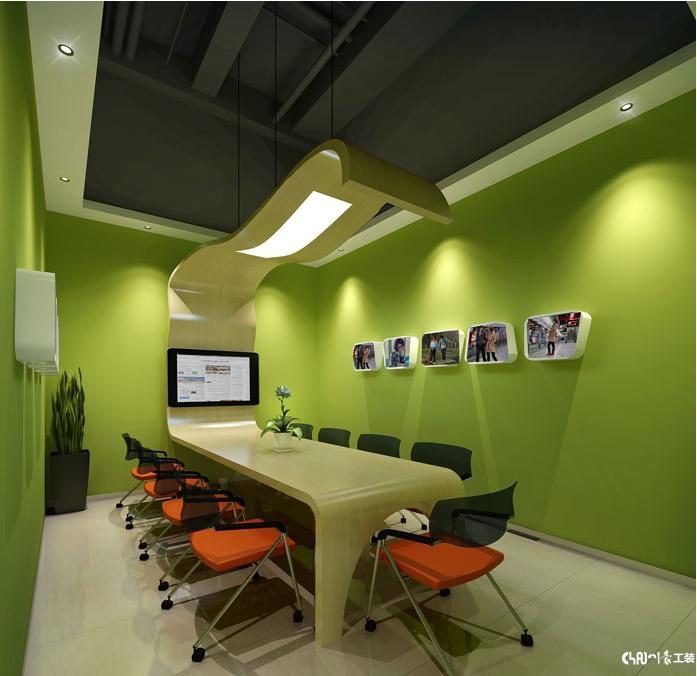 五彩缤纷的平面搭配-办公室装修设计案例|室内冷面加工厂色彩设计图图片