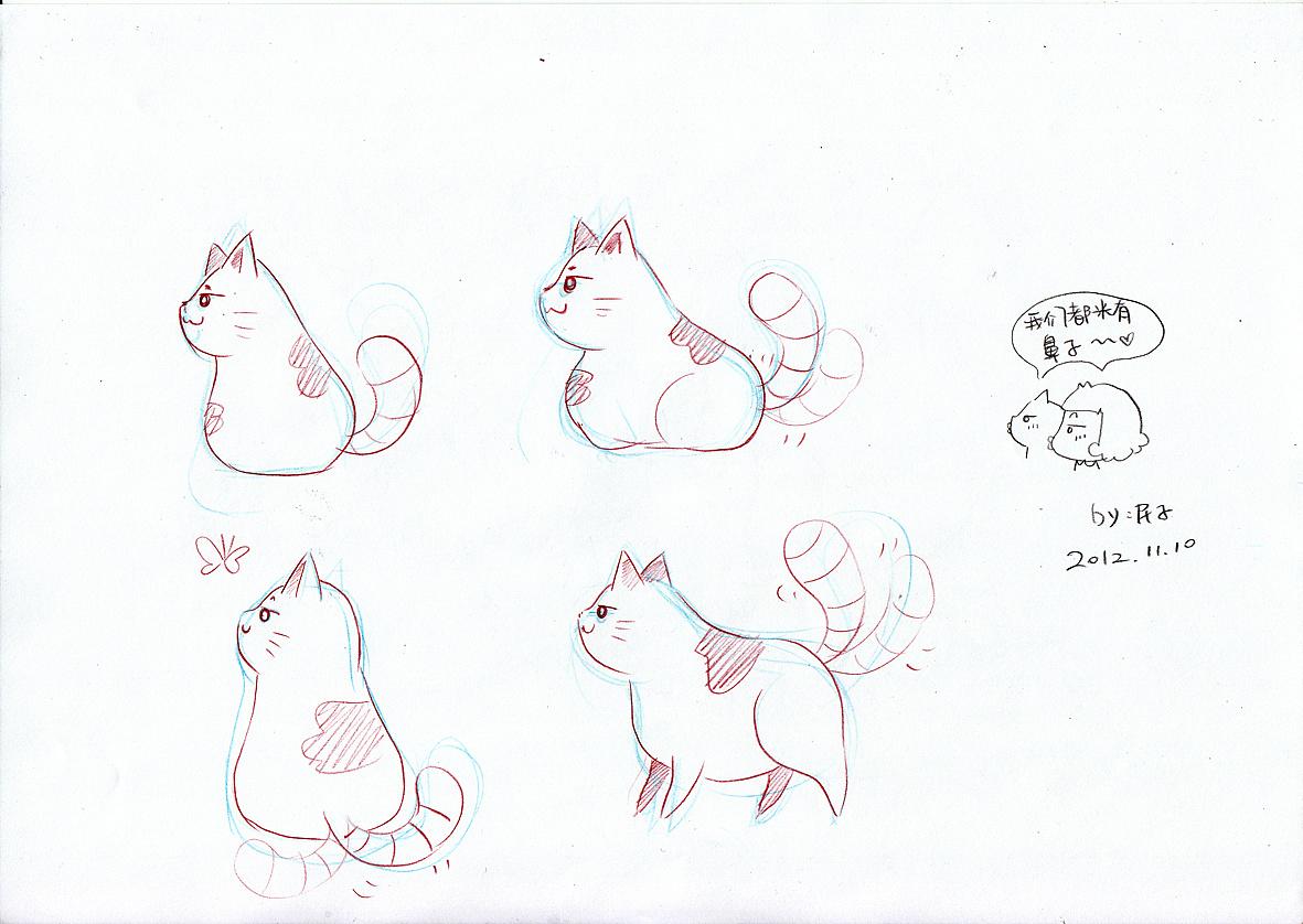 猫咪的侧面