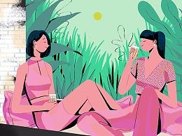 May & June Illustrations