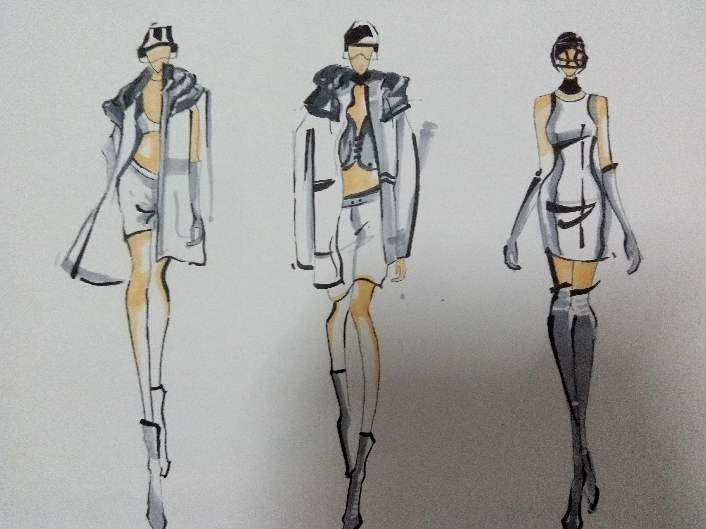 服装设计手稿|服装|休闲/流行服饰|呆设计师 - 原创图片
