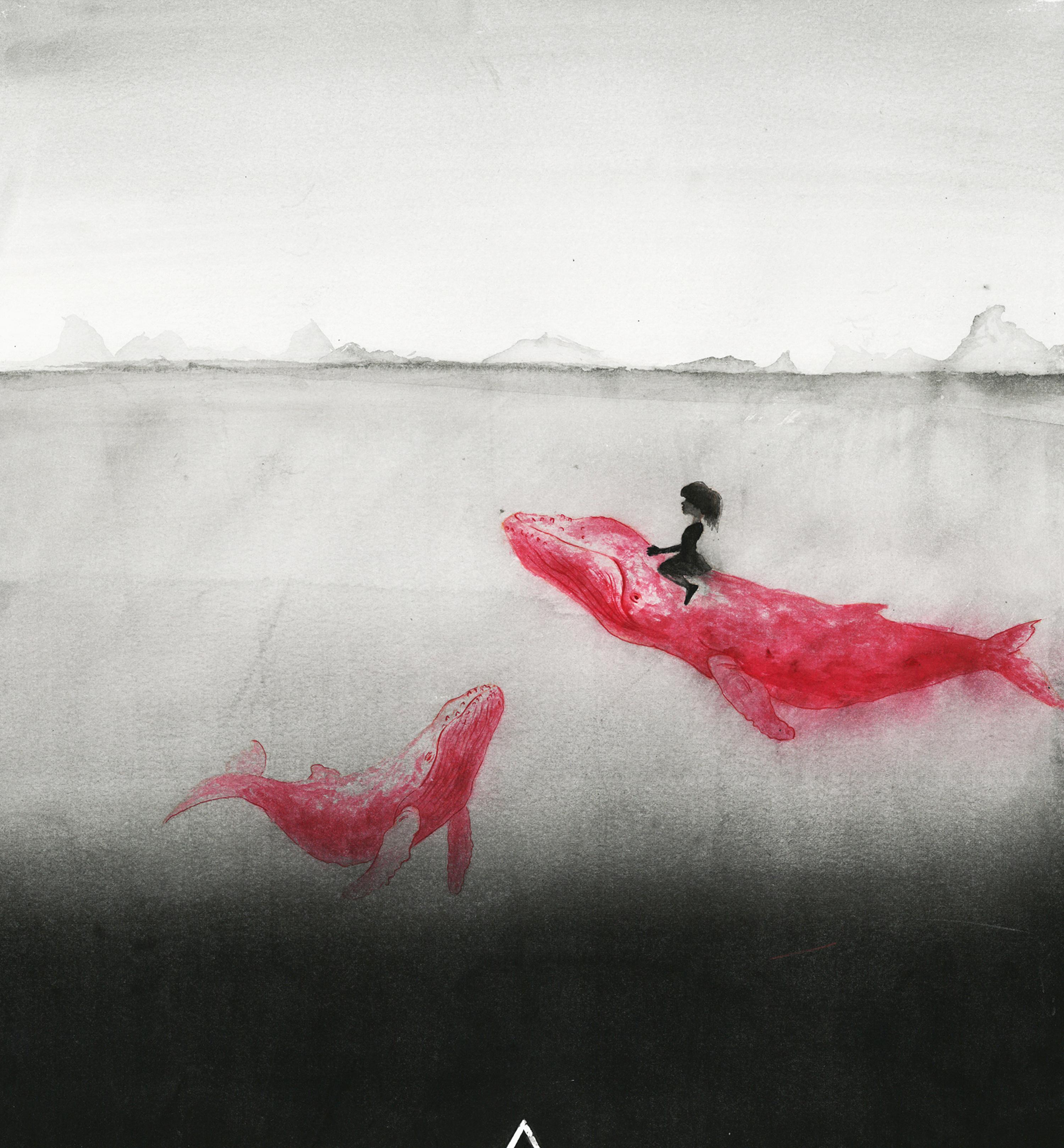 海洋 手绘黑白针管笔