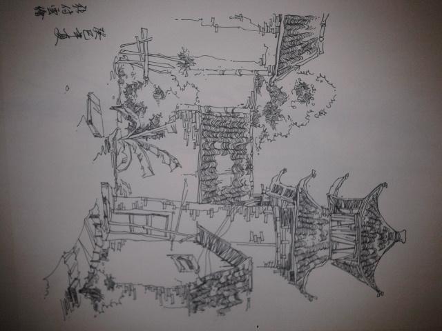 创意风景写生,手绘图片