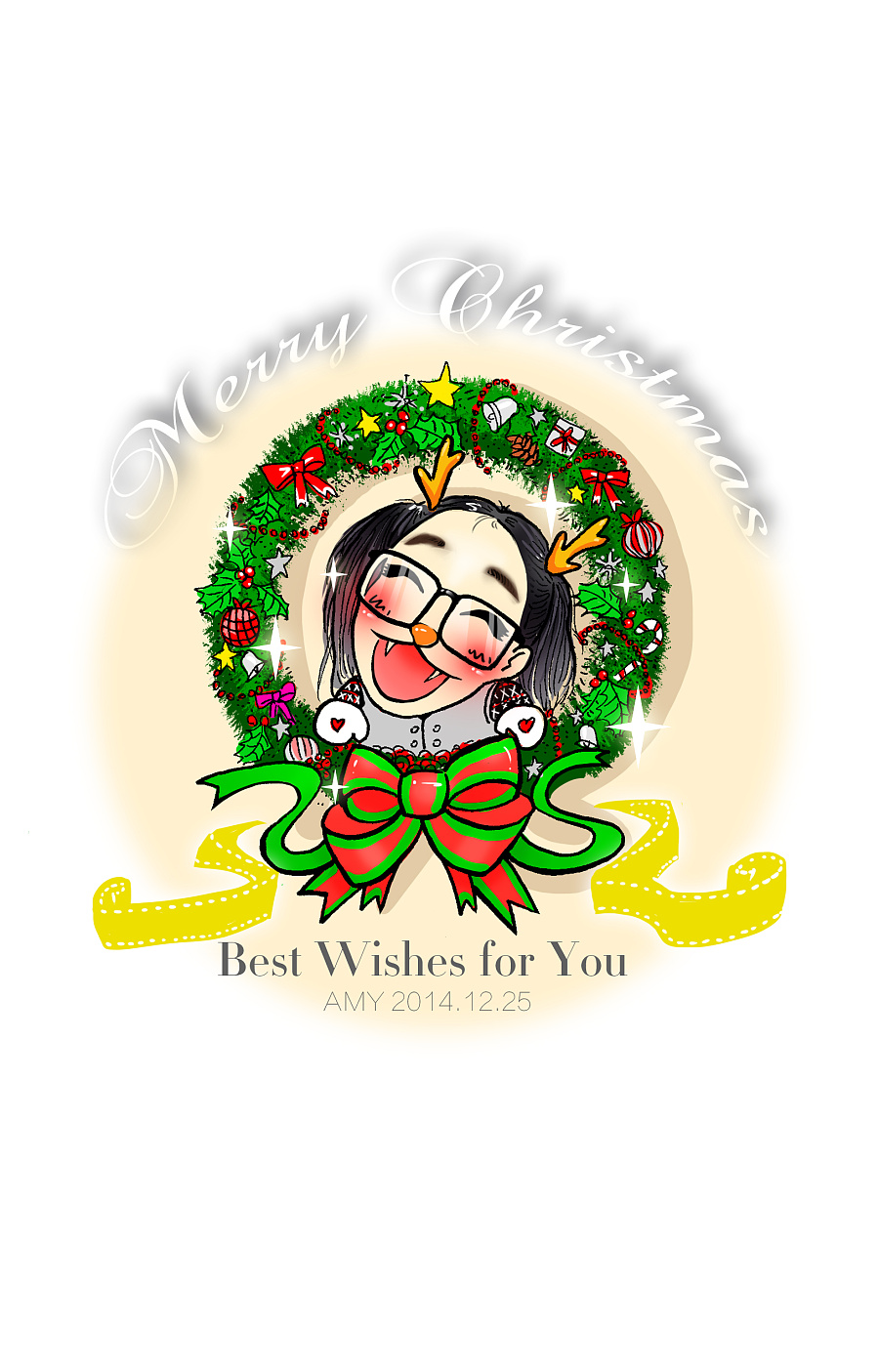2014年{圣诞节}手绘明信片们|涂鸦/潮流|插画|4