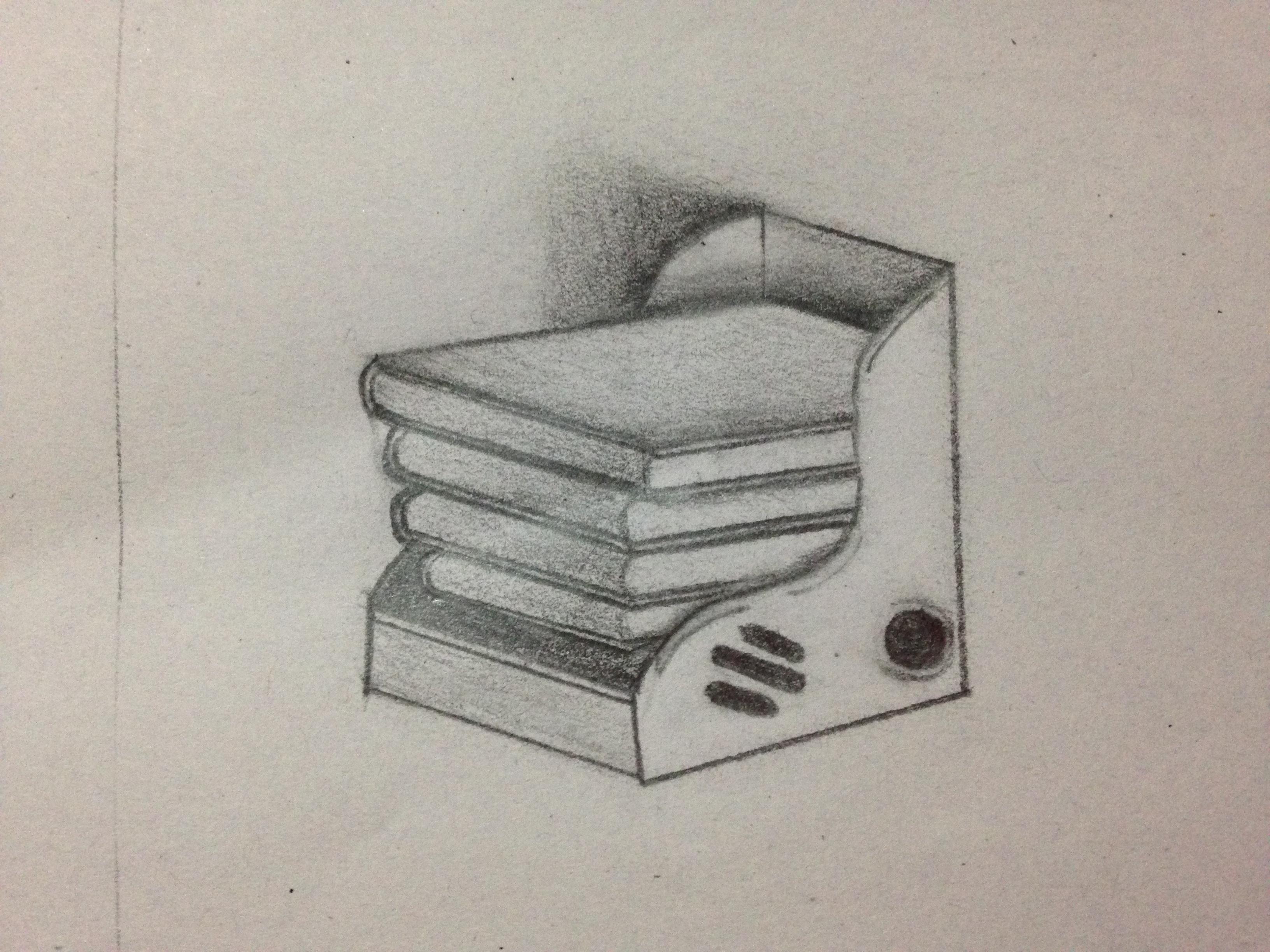 书架|纯艺术|素描|新小月 - 原创作品 - 站酷 (zcool)