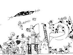 每天一个小人涂鸦的一个月坚持成果展示