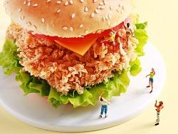 【微摄小人+鸡腿汉堡】&【微摄小人+面膜鸡排】