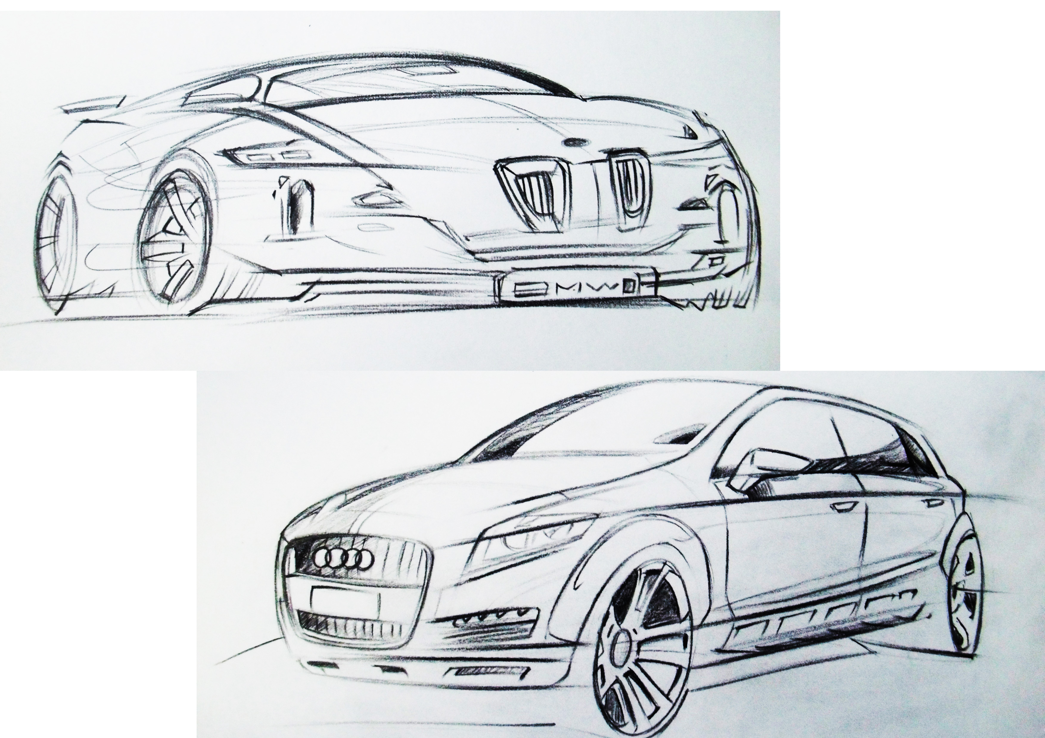 产品手绘 汽车