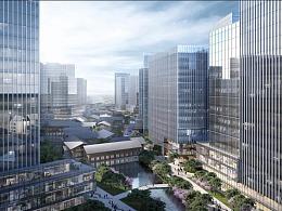 绿城风格 建筑效果图