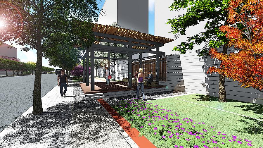 街头绿地景观设计|园林景观/规划|空间/建筑|majimin