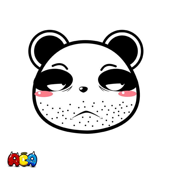 aca吉祥物-熊猫表情设计图片