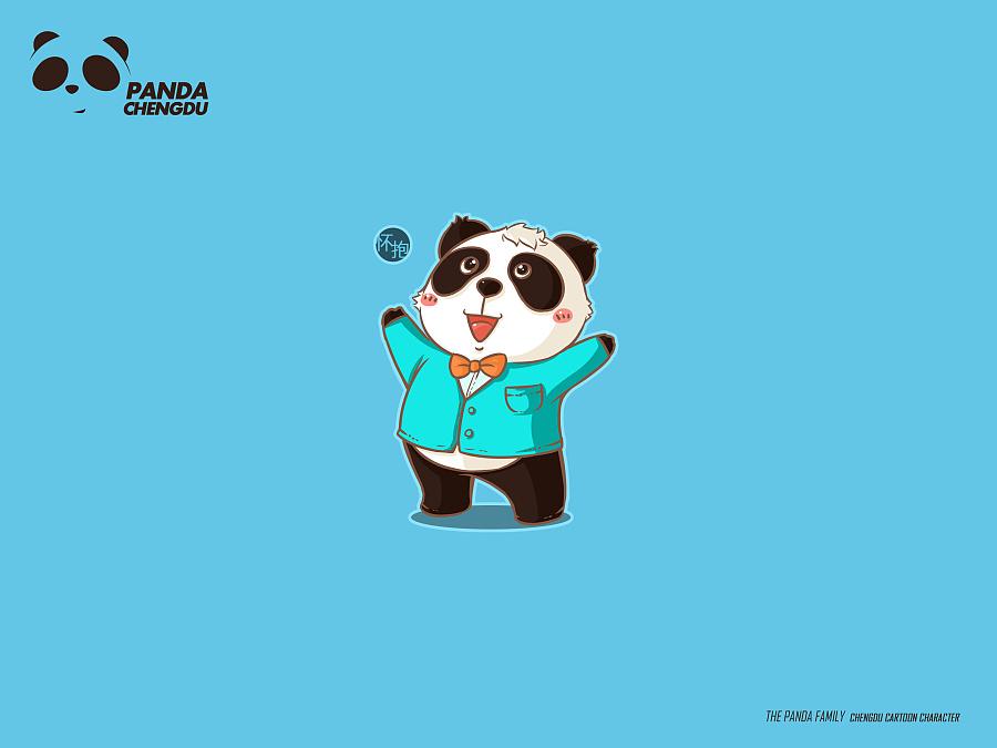 成都城市形象熊猫卡通