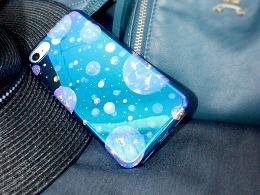 星球+大理石手机壳图案设计