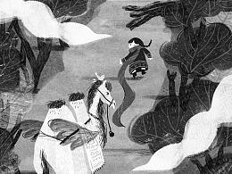 童书插图《我在大漠等你》