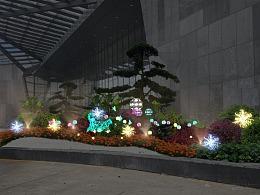 大型商业广场绿化亮化方案花坛灯光美陈厂家专业制作厂