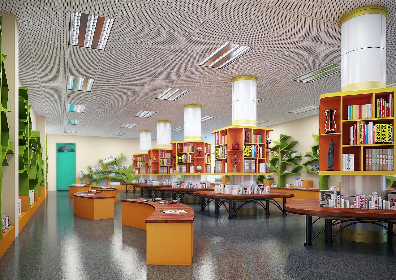 深圳三维_校园架空层书吧设计|空间|室内设计|yesbgb111 - 原创作品 - 站酷 (ZCOOL)