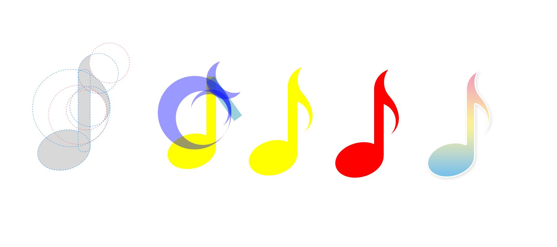 使用技巧图标_音符的画法,圆角icon的技巧|ui|图标|向前看琪 - 原创