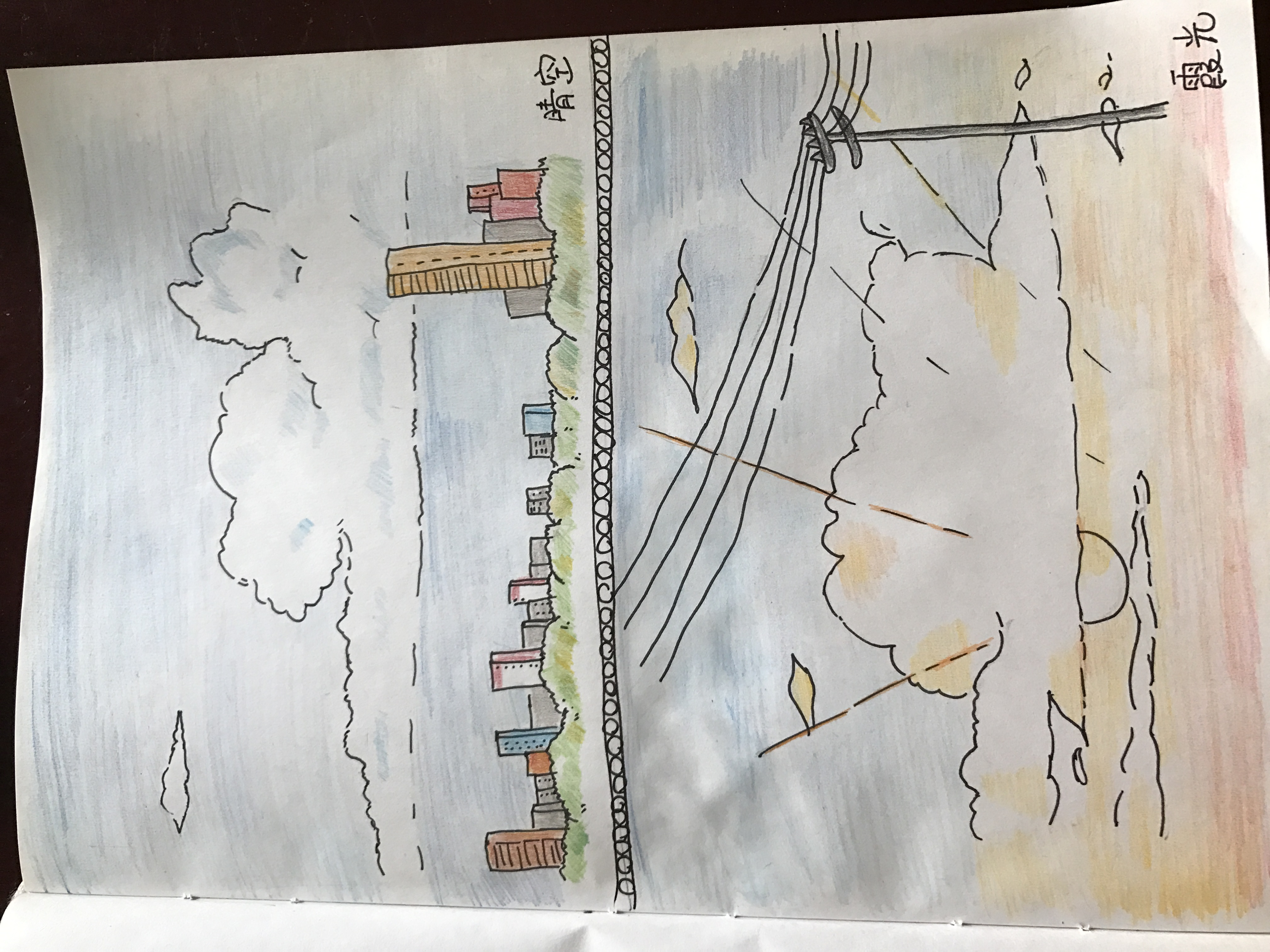 彩铅手绘培训总结海报