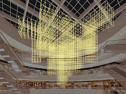 铭星工厂设计师 推荐 大型商场中庭美陈灯饰定制