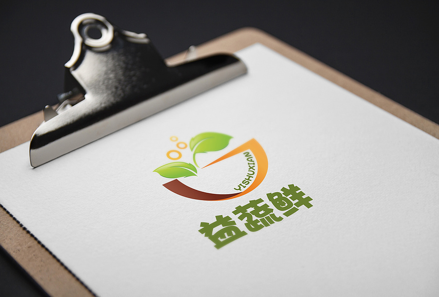 益蔬鲜logov平面|平面|时钟|袁龙-绘制设计作品之qt原创标志图片