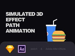 Simulated 3D(附教程)AE-path animation