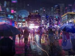 二次元都市风格