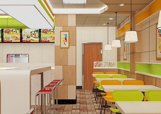 快餐店logo设计,教程加盟店vi设计,餐饮店装修设计,快餐店标志设计平面设计室内快餐图片