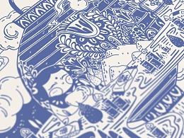 《思念》主题系列插画
