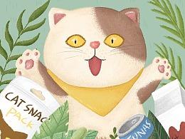 【插画】猫咪的美食之旅