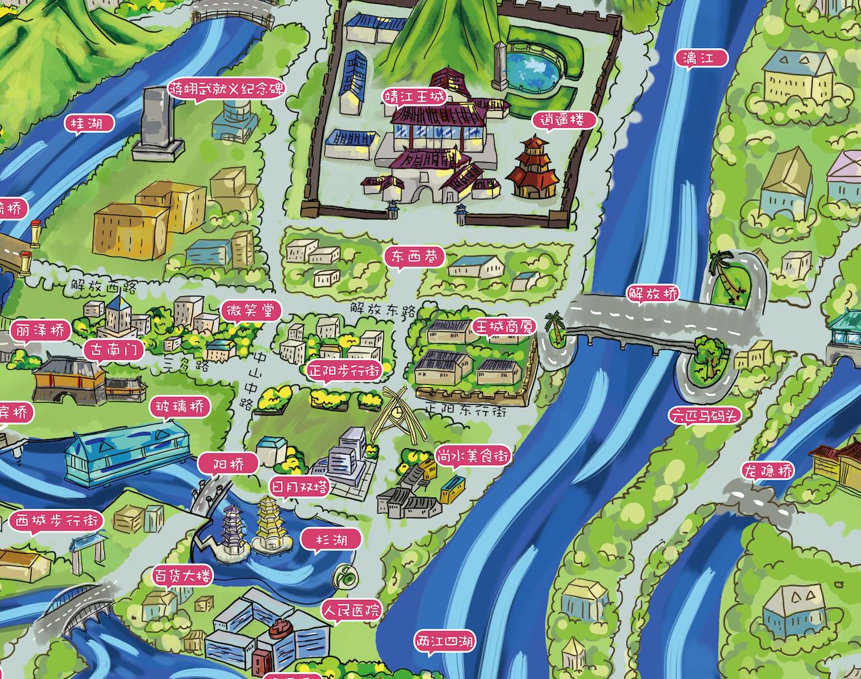 桂林手绘地图(细节)