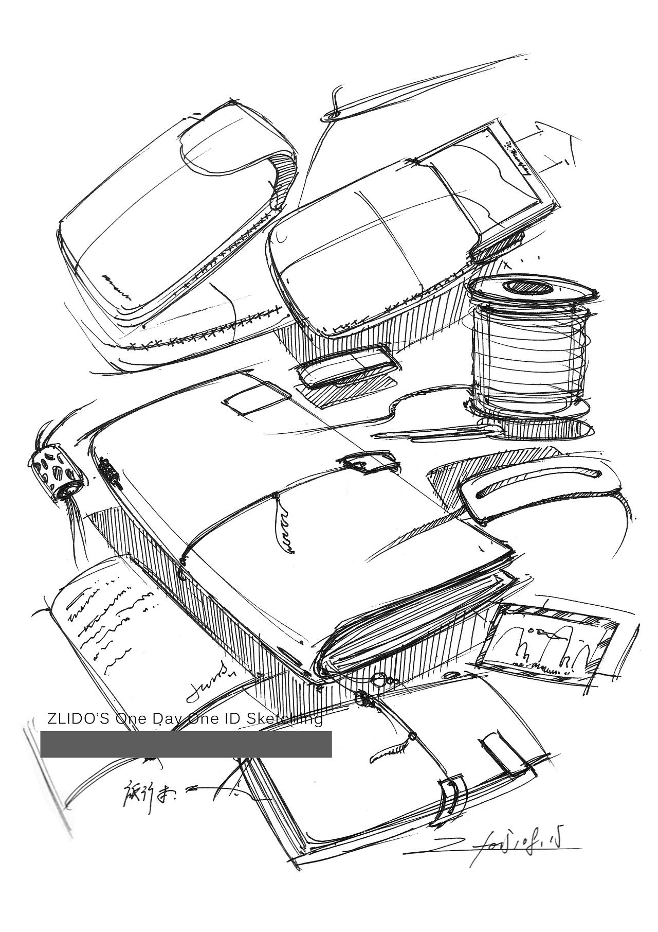 2015产品设计手绘8月 一日一画