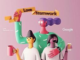 【C4D教程】30分钟做一个超酷的google模型
