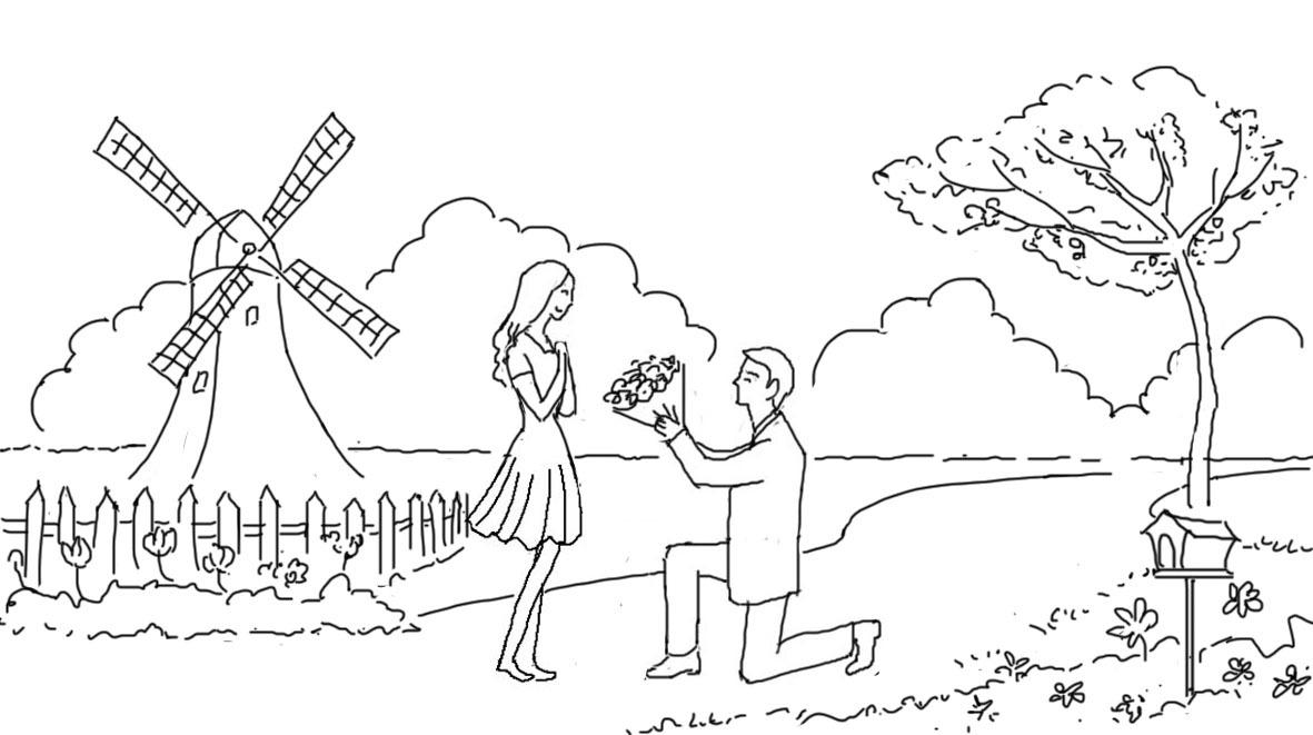 爱情手绘图片简单