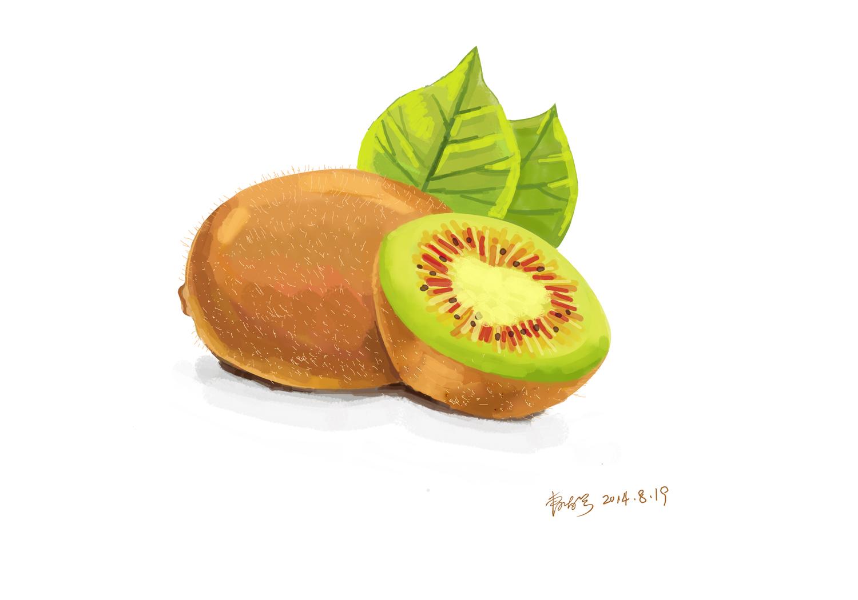 猕猴桃手绘